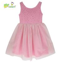 Girls Dress Sequins Pink Casual Dress 2015 New Tank Dance Dress Girls Costumes Meninos Vestidos Kids Clothes Children's Clothing