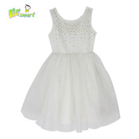 Sequins Girls Dress 2015 New White Casual Dress Children's Clothing Party Dress Girls Costumes Meninos Vestidos Kids Clothes