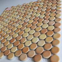 Yellow Color Irregular Mosaic Bathroom/Kitchen/KTV/House/Hotel/Interior Wall Glass Art  Mosaic