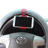 New Car Steering Wheel Mount Holder Car Mount Bracket Rubber Band Hot Sale For IPhone IPad MP4 GPS Mobile Phone Holder