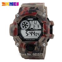 1pc/lot freeshipping Fashion Camouflage design new model skmei sports watch