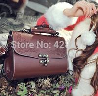 Fashion vintage style black brown women fashion shoulder bags versatile pu leather bags free shipping