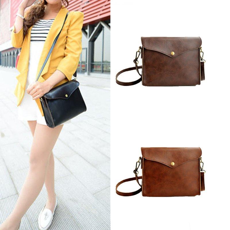 2015 New Retro Flap Women Messenger Bags Faux Leather Crossbody Women Bag Mini Small Bag Black/Brown/Coffee Bolsas Femininas(China (Mainland))