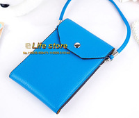 Lady Hand Bag Wallet Case Mobile Phone Pouch Cell Phone Case +Shoulder Belt For Samsung Galaxy Grand Max G720N0