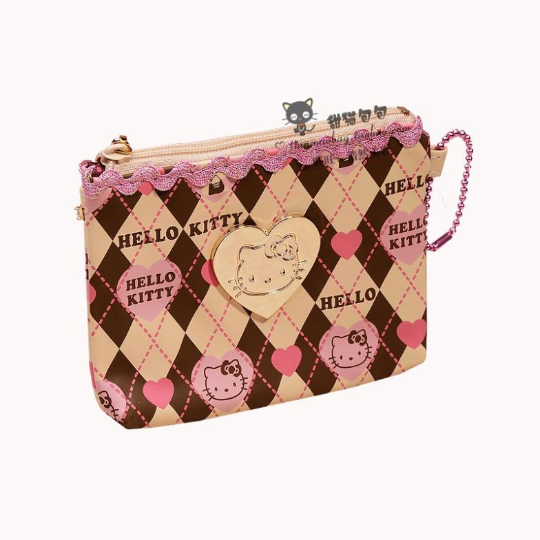1 Hello Kitty cartoon cute Hello Kitty purse chocolate color lady purse(China (Mainland))