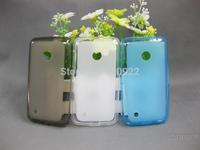 80 PCS/LOT, Semi Transparent TPU Pudding Case For NOKIA Lumia 530,4 Colors, Mix Color Support,Free Shipping