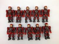 wholesale 100pcs Mega Bloks Halo Red Marine brick Minifigure