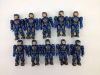 wholesale 100pcs MEGA BLOKS HALO UNSC BLUE MARINE ARMY MINIFIG MINI FIGURE