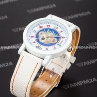 Fashion White Dial Leather Strap Band Masculino Relogio Analog Round Male Case Casual Clock Wrist Men's Quartz Watch / PHN012