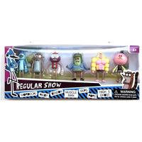 Wholeslae (8sets/lot) 6pcs/set Regular Show Action Figures Toy PVC Doll Mordecal/Rigby/Benson/Muscle Man/Skips/Pops