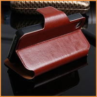 Free shipping Wallet Style PU leather case for iPhone 4 4S 4g Flip With Stand Bags Cover for iphone4