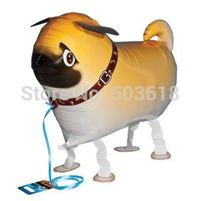 Free Shipping 10pcs/lot Cut Dog Walking Pet Balloon Hybrid Models of Animal Balloons Party Toys Gift(China (Mainland))