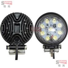 2pcs 4 27W LED Work Light Spot Flood Lamp Round Shape 12V LED Work Lights For