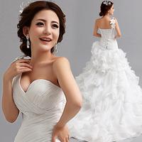 Vestido De Noiva 2015 Fashionable Plus Size Sexy One Shoulder Romantic Vintage Mermaid Organza Wedding Dress Sereia Casamento