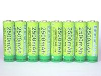 8Pcs/lot Etinesan 1.6v aa 2500mAh nizn Ni-Zn rechargeable battery batteries High voltage,more power