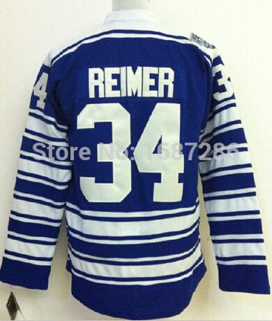 #34 James Reimer Jersey Cheap Toronto Maple Ice Hockey Jerseys USA Men black Embroidery Authentic Stitched BIG blue Size M-XXXL(China (Mainland))