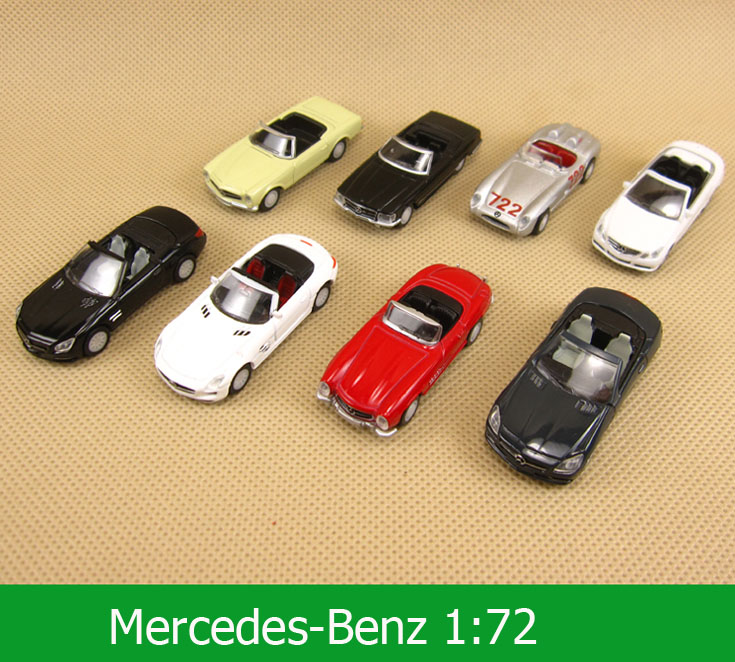 8 pcs/set 1:72 Alloy Georgia Mercedes-Benz Convertible Diecast Collectible Model Car Toys For Children(China (Mainland))