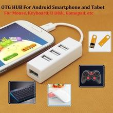 OTG Function 4 Port HUB Splitter Super Speed Mini Micro USB 2.0 Cable Adapter Converter Extender For Android Smartphone Tablet