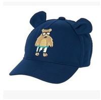 2015 New Children Cap Bear Hats Sunbonnet  Carton Bucket Original OrderBaby Hat Baseball Beach 4 Size 44-46,46-48,48-50,52-54cm