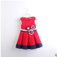 Princess Red Wollen Dress for Winter, Girls New Year's Dress!
