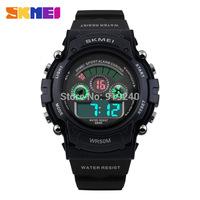 2015 fashion casual Man Woman lovers Personality watch Multifunctional waterproof Digital Electronic Wristwatches 4 colors--juhy