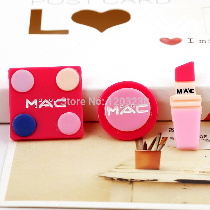 Newest flatback resin cabochon Simulation lipstick square round makeup box handmade Crafts diy home decoration jewelry material(China (Mainland))