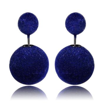 Горячая распродажа корея мода двухстороннее перл стержня уха сладкий шерсть перл стад серьги для женщин WE0708