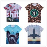 (Alice)2015 newest style women/men's cartoon emoji t shirts lady/girls short sleeve 3d t-shirt print tees size S-XXL free ship