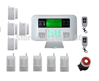 DHL freeshipping Wireless Wired GSM PSTN Intelligent Burglar Inturder Home Security Alarm System