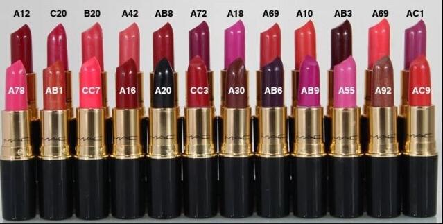 1pcs Brand Makeup Retro Matte Lipstick Ruby Woo / Russian Red / Lady Danger / Cyber / Diva / Fusion Pink /Bubblegum lipstick(China (Mainland))