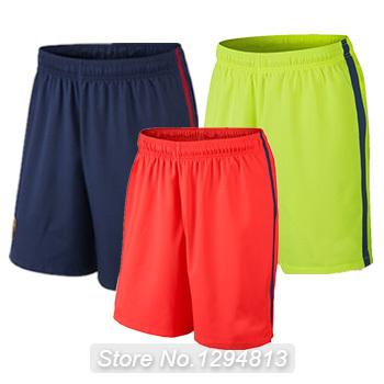 Free Shipping 2015 Soccer Shorts Best Quality Spain bermudas soccer jerseys futebol shortes football Shorts(China (Mainland))