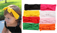 2015 New Fashion 8pcs/Lot  Newborn Accessories Kids Baby Girls Headscarf Headband Headwear Headpiece Kerchief Scarf Rabbit Ear