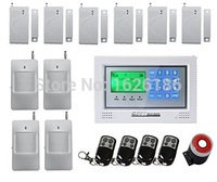 DHL freeshipping gsm alarm system android ios app control with color lcd sms call alarm/siren built