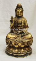 China Chinese Buddhism Copper seat Kwan-yin Guan Yin Boddhisattva Statue