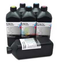 6 Liters C M Y K LC LM UV curable ink Compatible for Epson LED UV