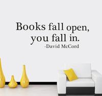Books fall open you fall in David McCord Wall sitcker Vinyl Decorative Decal Decor Sticker Instrumen art