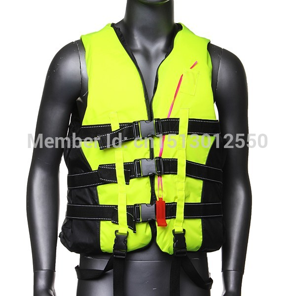 Adult Life Jacket Vest PFD Fully Enclose Foam Boating Water Fishing Safety Jackets Colete Salva Vidas With Whistle Size L XL XXL(China (Mainland))