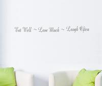 Eat Well Lave Much Laugh Often Wall sitckers Vinyl Decorative Decal Decor Sticker Instrumen art