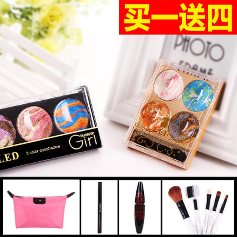 2015 new magic eye shadow, powder brushes cream stick matte pearl makeup tools makeup bare earth colors SL-02(China (Mainland))