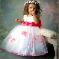 2015 Hot Summer Girls Flowers Party Wedding Tutu Dresses Vestidos Infantis