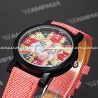 Fashion Relogio Masulino Alloy Round Black Case Analog Male Dress Casual Clock Leather Band Belt Men Quartz Wristwatch / PHN011