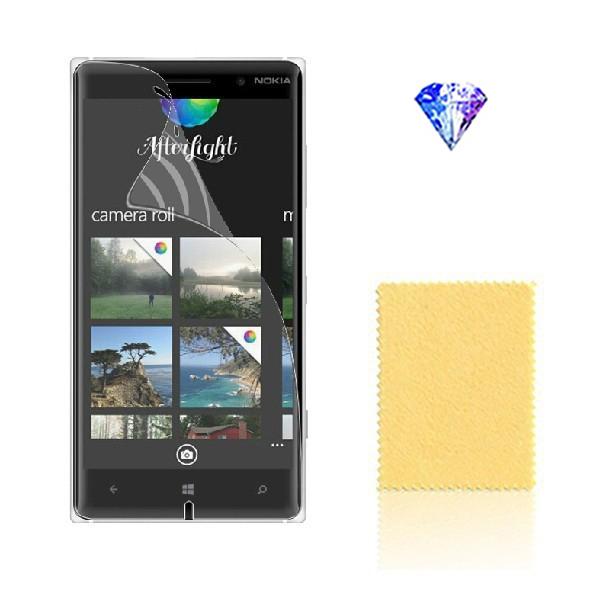 2015 Hot Clear Diamond Film Protective Screen Protectors Pelicula 10pcs=5pcs Film+5pcs Cloth For Nokia Lumia 830(China (Mainland))