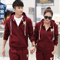 mn and winter the new Korean couple sweater suits leisure set head Hoodie men and women long sleeved sport class service