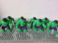 20pcs 7cm Big Hulk super heros Avengers Action Figures minifigures toys Building Blocks children Toys Gifts compatiable