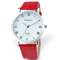 2014 New Fashion Casual Women Lovers Watch Leather Band Round Dial Gift for Girl Quartz Watches