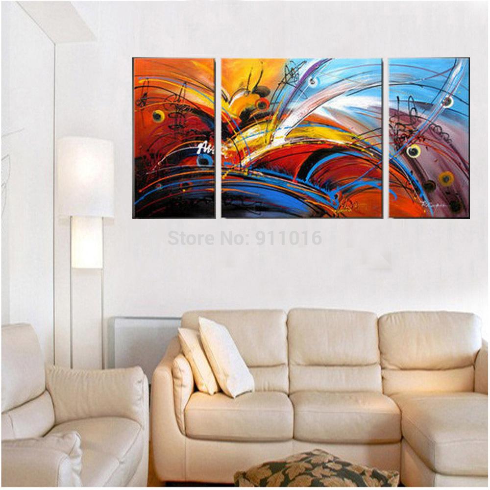 Oil Paintings For Living Room Best Modern Flowers Oil Painting Hand Painted Wall Paintings Home
