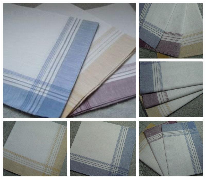 12 pieces / one dozen large size 40cm x 40cm classic pattern 100% cotton handkerchiefs(China (Mainland))
