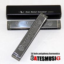 New 2015 Swan 24 Hole Octave-tuned harmonica, Key of C with Case(China (Mainland))