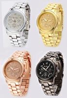 2015 Fashion Famous sterling silver jewelry 6 styles Stainless Steel women men Watch with Rhinestone quartz  brand wristwatch