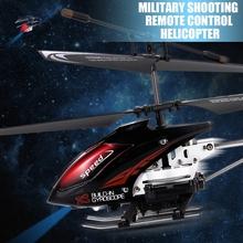 Пулевая стрельба прохладный мальчики смарт игрушки 3.5 канала удаленного управления по радио RC вертолеты электрический металл военный самолет гироскопа(China (Mainland))